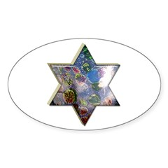 Star of David Passover Oval Decal
