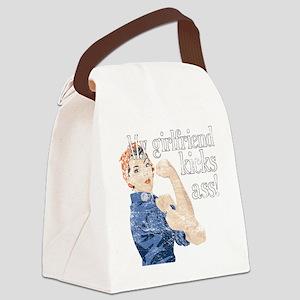 my girl kicks ass Canvas Lunch Bag