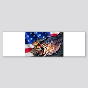 American Flag striper Bumper Sticker