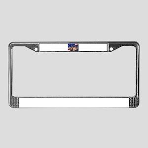 American Flag striper License Plate Frame