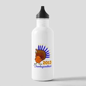 Thanksgivukkah 2013 Menurkey Water Bottle