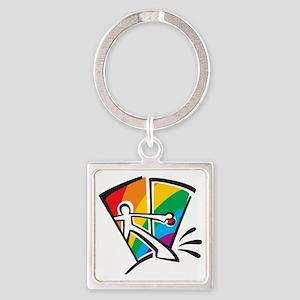 Rainbow Closet Square Keychain