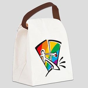 Rainbow Closet Canvas Lunch Bag