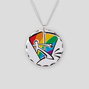 Rainbow Closet Necklace Circle Charm