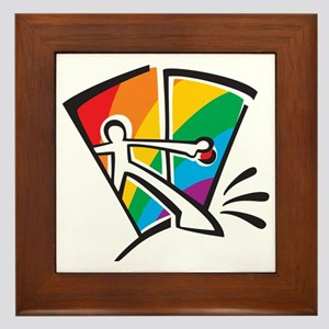 Rainbow Closet Framed Tile