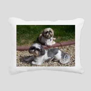 Puppies_outside Rectangular Canvas Pillow