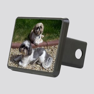 Puppies_outside Rectangular Hitch Cover