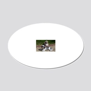 Puppies_outside 20x12 Oval Wall Decal