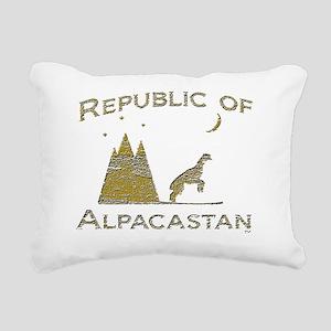 desert alp todd gold Rectangular Canvas Pillow