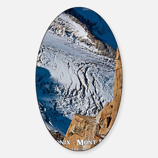 Chamonix Bossons Crevasses Sticker (Oval)