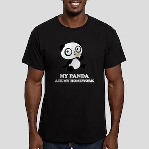 pandaHomeworkA Men's Fitted T-Shirt (dark)