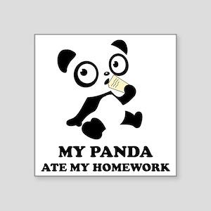 "pandaHomeworkB Square Sticker 3"" x 3"""