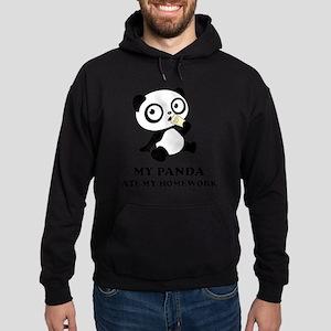pandaHomeworkB Hoodie (dark)