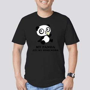 pandaHomeworkB Men's Fitted T-Shirt (dark)