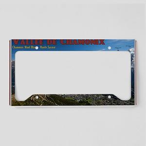 Chamonix Valley License Plate Holder