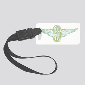 winged wheel for dark shirts Small Luggage Tag