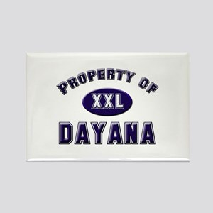 Property of dayana Rectangle Magnet