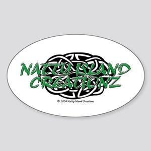 NIC Logo Oval Sticker