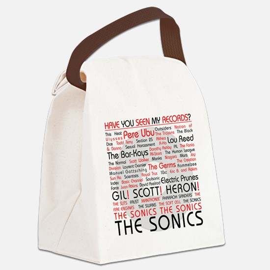 LosingMyEdgeWhiteTee Canvas Lunch Bag