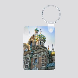 St. Petersburg Cathedral Aluminum Photo Keychain