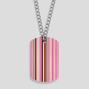 443 Pink Stripes Dog Tags