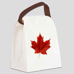 O_Canada_red_whiteLetters copy Canvas Lunch Bag