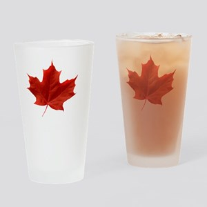O_Canada_red_whiteLetters copy Drinking Glass