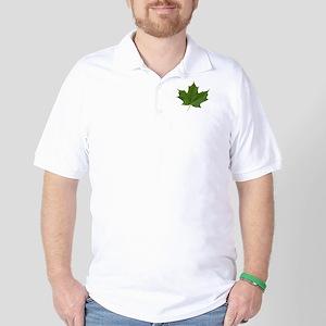 TrueNorth-greenLeaf-whiteLetters copy Golf Shirt
