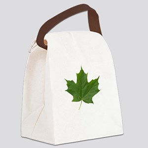 TrueNorth-greenLeaf-whiteLetters  Canvas Lunch Bag