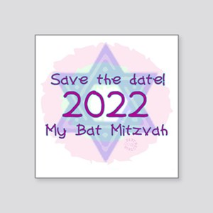 "save_the_date_2022 Square Sticker 3"" x 3"""