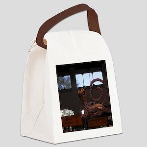 Kitty Overhead Canvas Lunch Bag