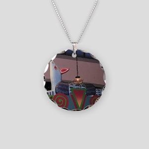 Armadillo Overhead Necklace Circle Charm