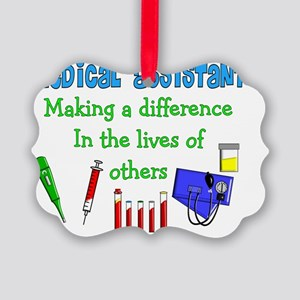 Medical Assistant making a Differ Picture Ornament