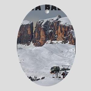 Sella Ronda - Alta Badia Oval Ornament