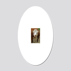 Miniature Hereford 20x12 Oval Wall Decal
