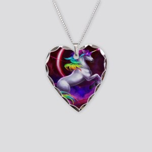 16x20_unicorndream Necklace Heart Charm