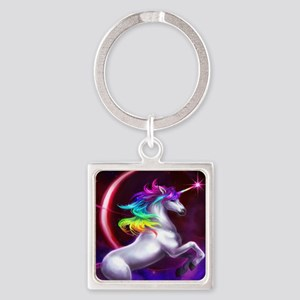 16x20_unicorndream Square Keychain