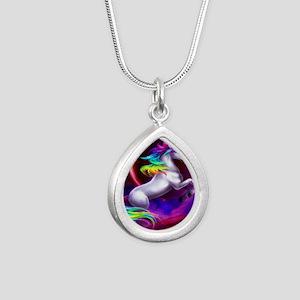16x20_unicorndream Silver Teardrop Necklace