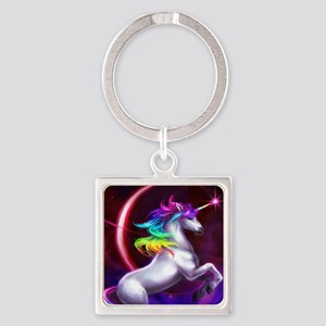 9x12_unicorndream Square Keychain