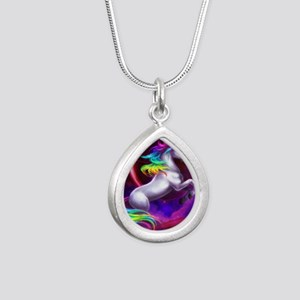 9x12_unicorndream Silver Teardrop Necklace