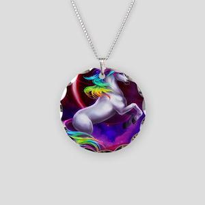 9x12_unicorndream Necklace Circle Charm