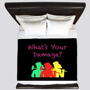 What's Your Damage King Duvet