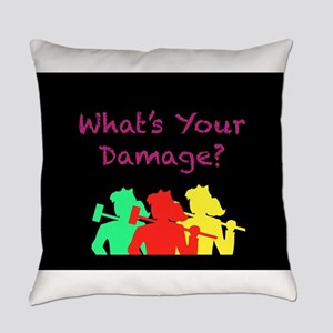 What's Your Damage Everyday Pillow