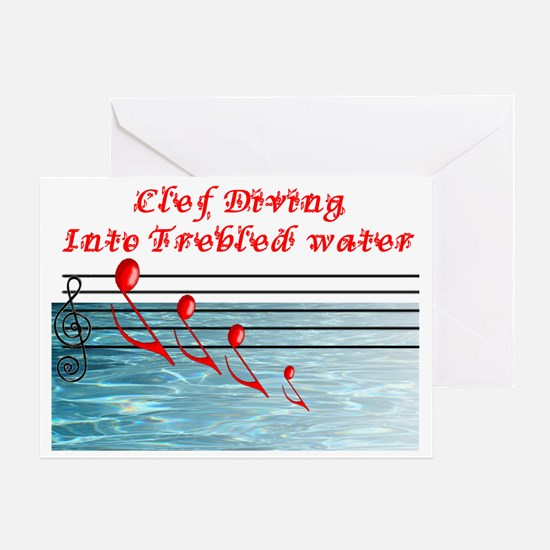 clef diving Greeting Card