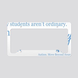 extraordinary-students-blue License Plate Holder