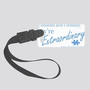 extraordinary-students-blue Small Luggage Tag