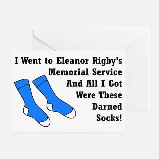 Darned Socks blktype Greeting Card