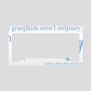 extraordinary-grandkids-blue License Plate Holder
