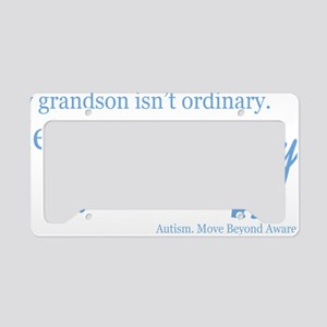 extraordinary-grandson-blue License Plate Holder