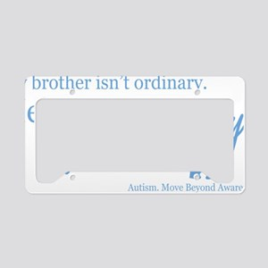 extraordinary-brother-blue License Plate Holder